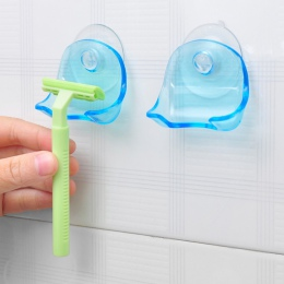 Hoomall z tworzywa sztucznego przezroczysty niebieski/szary Super przyssawka stojak przyssawka maszynka do golenia Razor uchwyt