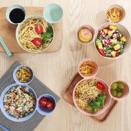 Cute Cartoon Mickey na obiad dla dzieci płyta kreatywny wysokiej jakości słomy pszenicy makaron danie dla dzieci owoce talerz sa
