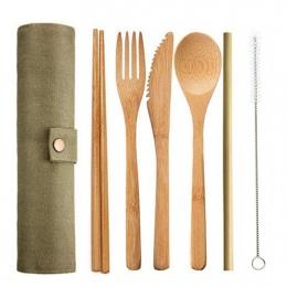 6 sztuk/zestaw słomy kuchnia naczynie z losowo torba przyjazne dla środowiska podróży wielokrotnego użytku przenośne bambusowe z