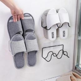 Podwójna warstwa półka na buty półka na buty półka do montażu na ścianie kapcie półka wisząca pantofel uchwyt na półkę buty orga