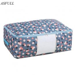 ASFULL torby na kołdrę Oxford torby na bagaż L XL do przechowywania domu torby do przechowywania organizator dla wodoodporna sza
