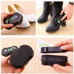 1 sztuk wielofunkcyjny dwustronna pasty do butów bezbarwny lekkie buty pocierać do pielęgnacji skóry oleju gąbka buty wosk czarn