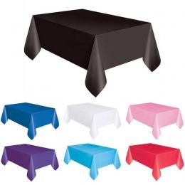 1 PC 137*183 cm plastikowe jednorazowe obrusy jednolity kolor ślub stół na przyjęcie urodzinowe pokrywy prostokąt biurko wytrzeć