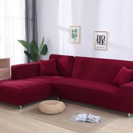 Szary kolor mocno owinąć kanapa pokrywa elastyczna potrzeb zamówić 2 sztuk Sofa pokryć, jeśli w stylu L przekroju narożnik capa