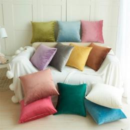 Nowy 1 pc aksamitna poduszka Sofa talia rzut powłoczka na poduszkę domowa Decor poszewka na poduszkę akcesoria do dekoracji domu