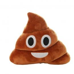 Śliczne brązowy emotikon smiley kupa poduszki pluszowe poduszki Home Decor prezent dla dzieci nadziewane kupa lalki wypchane kup