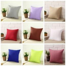 Hot solidna gorąca poszewki na poduszkę proste zwykły dekoracyjne powłoczka na poduszkę domowa produkty do dekoracji Sofa krzesł