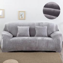 Pluszowe tkaniny pokrowiec na sofę 1/2/3/4 osobowa grube narzuty kanapa sofacovers stretch elastyczny tanie Sofa obejmuje czepek