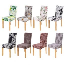 Pokrowiec na krzesło Spandeks kuchnia narzuty wymienny anty-brudne pokrycie siedzenia na bankiet ślub kolacja restauracja 1 PC