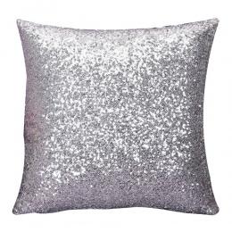 Gajjar poszewka na poduszkę jednolity kolor brokat srebrne cekiny Bling rzuć poszewka na poduszkę Cafe poduszka dekoracyjna pokr