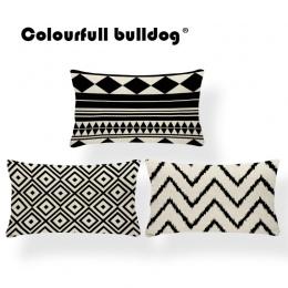 Prostokątna poduszka pokrywa geometria poszewka na poduszkę Nordic styl dekoracji rzuć poszewki na poduszki zygzak 30X50 Cotton