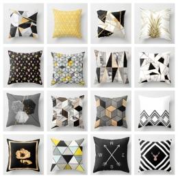 ZENGA geometryczne Nordic poszewka dekoracyjne poduszki rzuć poszewka na poduszkę poliester poszewka na poduszkę Sofa łóżko Posz