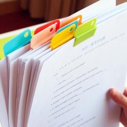 6 sztuk wielofunkcyjny notebooki Memo Clip proste klipsy papiery etykietowe folderów na co dzień klipsy Handmade DIY Home do prz