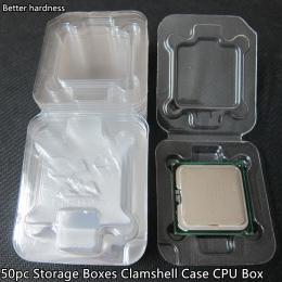 50 pc wysokiej jakości pudełka do przechowywania składane Case CPU Box dla Intel 775 1155 1156 0 ther dane techniczne/IC chipset