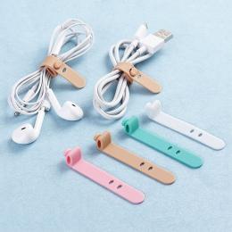 4 sztuk silikonowy pasek do przechowywania słuchawek taśma linii zasilania kabel do transmisji danych krawat na zewnątrz podróży