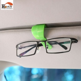CUSHAWFAMILY 2 sztuk/partia kolorowe śliczne mini wielofunkcyjny okulary klip zapobieganie stracił papieru danych spinki pudełko