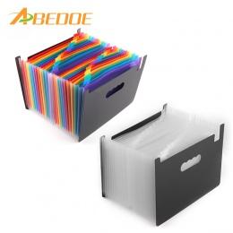 ABEDOE 24 kieszenie rozkładana teczka przenośny akordeon Folder plików A4 rozbudowy biznes organizer na dokumenty z etykietą osó