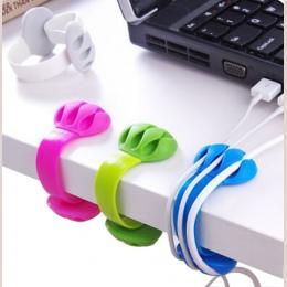 BalleenShiny boczny biurko centrum klip Winder drutu do przechowywania wykończenia linia danych uchwyt na biuro pulpit USB do tr