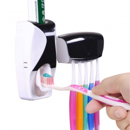 1 zestaw kreatywny automatyczny plastikowy Lazy dozownik pasty do zębów 5 szczoteczka do zębów uchwyt do wyciskania półki łazien