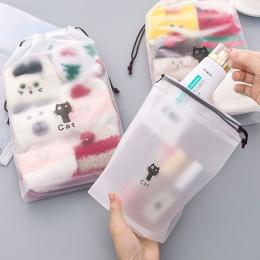 3 sztuk kot wodoodporna kosmetyczka Box kobiety podróżna kosmetyczka na produkty do makijażu na zamek błyskawiczny makijaż organ