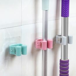 1 sztuk do montażu na ścianie Mop silne domowe łazienka haki uchwyt szczotka miotła wieszak do przechowywania wieszak na ręcznik
