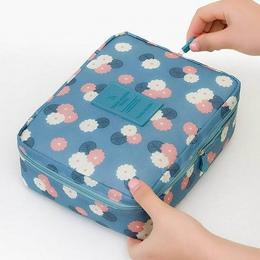 Na zewnątrz podróży nylon kosmetyczka makijaż box wodoodporny makijaż organizator łazienka pudełko do przechowywania damskie prz