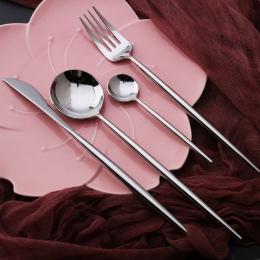 Najlepszy gorąca sprzedaż 4 sztuk/zestaw srebrny kolor stołowe obiadowy zestaw 304 zachodniej sztućce ze stali nierdzewnej kuchn