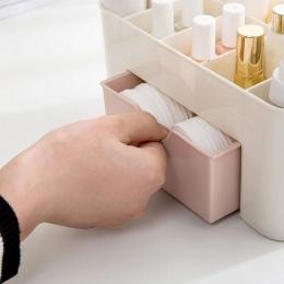 Plastikowy organizator do makijażu kosmetyki pojemnik do przechowywania akrylowy Organizer na pomadki biżuteria organizator rozm