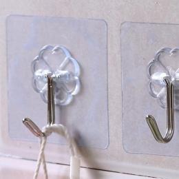 Wodoodporny przezroczysty i mocny klej hak za drzwi kuchnia do paznokci bezpłatne-marka hak ścienny łazienka kreatywny klej hak
