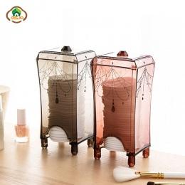 Msjo makijaż organizator plastikowe schowek makijaż bawełna Pad organizator toaletka akcesoria do domu organizator