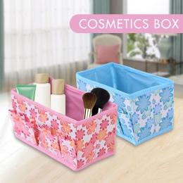 Wielofunkcyjne składane włókniny tworzą pulpitu kosmetyczne organizator pudełko do przechowywania szafa szuflada organizator na