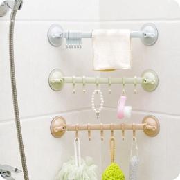Ręcznik łyżka stojak przyssawka 6 haki łazienka kuchnia drzwi ścienne bez śladu silny uchwyt Sucker wieszak