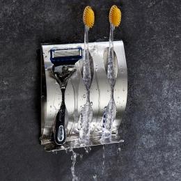 Szczoteczka do zębów uchwyt do golenia ze stali nierdzewnej polerowanej stali nierdzewnej organizator, lepki, ściana, do montażu