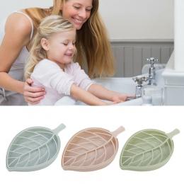 CARRYWON kreatywny spustowy mydło Box liść modelowanie mydelniczka akcesoria łazienkowe mydelniczka kosz do przechowywania Box s