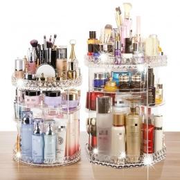 360 obracanie akryl kosmetyczne makijaż organizator DIY odpinany Rangement Maquillage regulowany Organizer na kosmetyki uchwyt R