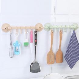 1 PC łazienka wieszaki haczyki ścienny stojak próżniowy przyssawka 6 haki ręcznik łazienka uchwyt kuchenny przyssawka wieszak #