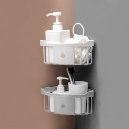 TENSKE-bezpłatny do montażu na ścianie statyw stojak z tworzywa sztucznego łazienka Kitchen Corner rack organizator półka po pry