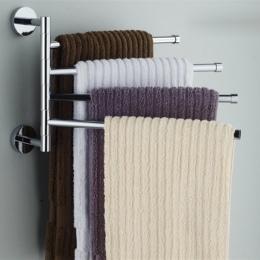Ze stali nierdzewnej wieszak na ręczniki wieszak obrotowy na ręczniki łazienka kuchnia do montażu na ścianie ręcznik polerowany