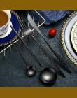 Hoomall 24 sztuk/zestaw czarny zastawa stołowa zestaw obiadowy 304 sztućce ze stali nierdzewnej zestaw obiadowy dostaw z kuchni