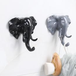 Słoń głowy zwierząt ściany drzwi odzież hak wyświetlacz stojaki do przechowywania samoprzylepne wieszak torba klucze przyklejony