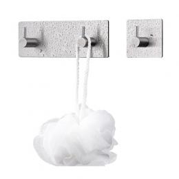 3 M naklejki samoprzylepne haki ze stali nierdzewnej drzwi ścienne ubrania wieszak na płaszcze i kapelusze kuchnia łazienka ze s