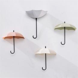 Nowy parasol hak ścienny 3 sztuk/zestaw śliczne parasol do montażu na ścianie klucz uchwyt ścienny hak wieszak organizator trwał