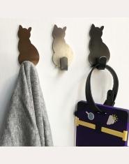 2 sztuk samoprzylepne haki kot wzór uchwyt do przechowywania łazienka kuchnia wieszak trzymać na ścianie wiszące drzwi ubrania w
