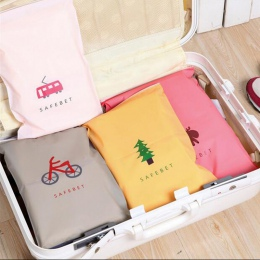 Moda torby do przechowywania podróży Zipper organizator torba na odzież bielizna skarpetki buty torba do przechowywania pokojówk