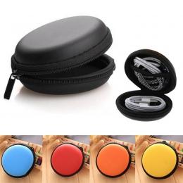 Organizer na kable USB etui na słuchawki ręcznie Spinner przenośny zestaw słuchawkowy box twardy okrągły kształt torba na słucha