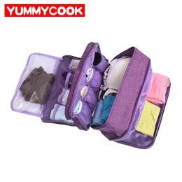 Przenośny biustonosz torba do przechowywania bielizny wodoodporna podróży skarpetki kosmetyki szuflada organizator szafa ubrania