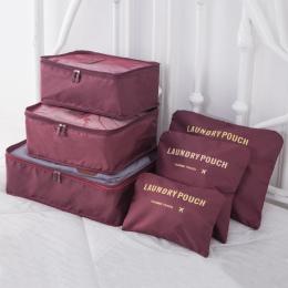 DLYLDQH marka 6 sztuk podróży worek do przechowywania zestaw na ubrania Tidy organizator pokrowiec walizka szafa domowa dzielnik