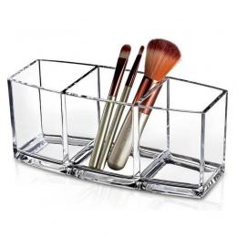 Akrylowe makijaż organizator kosmetyczne makijaż narzędzia pudełko do przechowywania Organizadora szczotki i akcesoria organizat