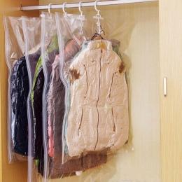 Wiszące torebki próżniowe na ubrania składane przezroczysta zamknięte kompresji etui szafa organizator torba do przechowywania z