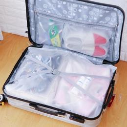 1 sztuk przenośne wodoodporne torby do przechowywania bagaż podróżny worek do przechowywania biżuterii Ziplock Zip zapinana na z